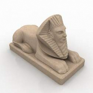 Egyptian Sphinx Statue 3d Model Free Download 3d Models