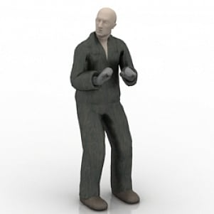 Standing Old Man 3D Model