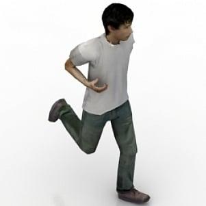 Running Boy 3D Model