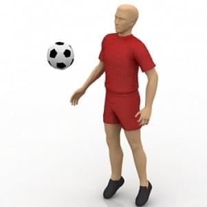 Man Footballer 3D Model