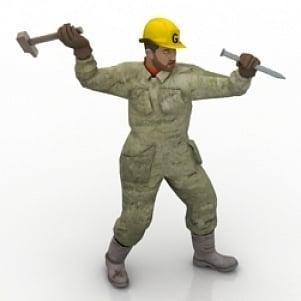 Workman 3D Model