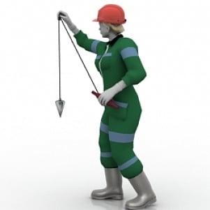 Lowpoly Worker 3D Model
