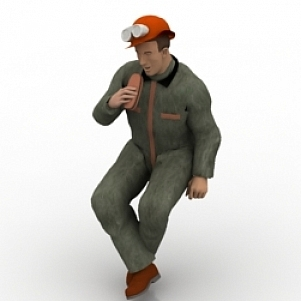 Builder Man 3D Model