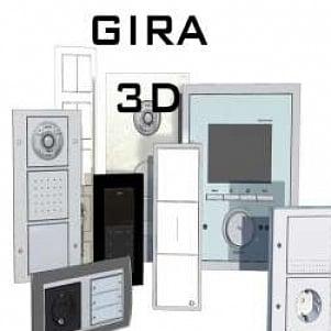 gira 3d set 3d model free download 3d models id4196 3ds. Black Bedroom Furniture Sets. Home Design Ideas