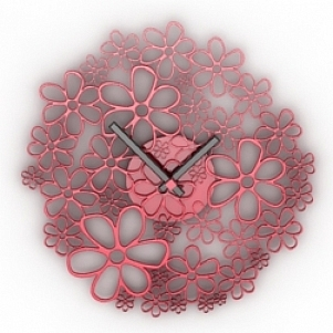 Flower Clock 3D Model