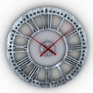 Roman Numerals Clock 3D Model