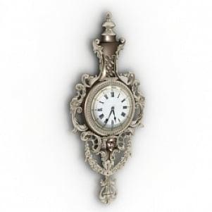 Vintage Wall Clock 3D Model