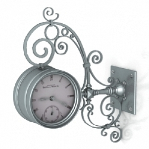 Floral Antique Clock 3D Model