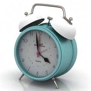 Quartz Alarm Clock 3d Model