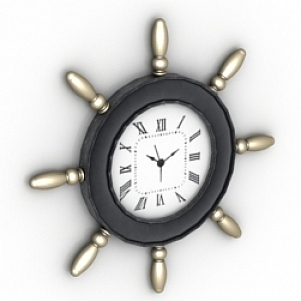 Decoration Wheel Clock 3D Model