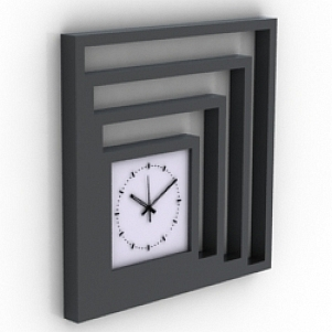 Frame Wall Clock 3D Model