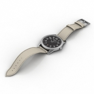Leather Watch 3D Model