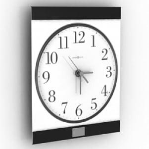 Flat Clock 3D Model