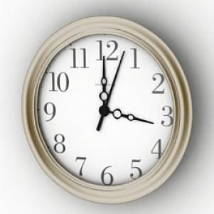 Classic Circle Clock 3D Model