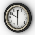 Circular Clock 3D Model
