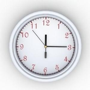 Spiral Clock 3D Model