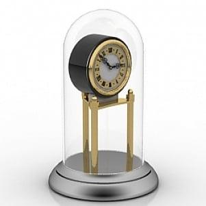 Glass Clock 3D Model