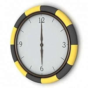 Circle Clock 3D Model