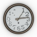 Number Stylized Clock 3D Model