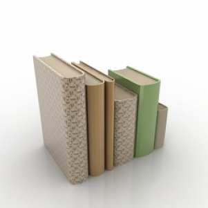 Difference Size Books 3D Model