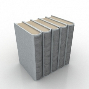 Fat Books 3D Model