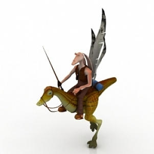 Kaadu 3D Model Character