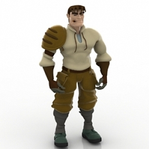 Katarn Beta 3D Model Character