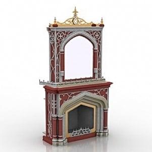 Decoration Fireplace 3D Model