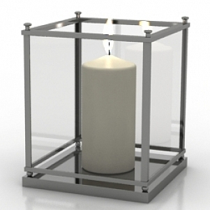 Decoration Candle 3D Model