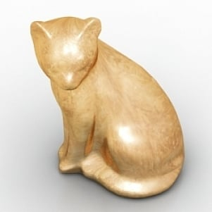 Cat Figurine 3D Model