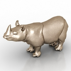 Figurine rhinoceros 3D Model