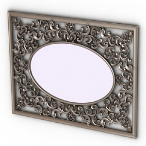 Retro Mirror Frame 3D Model