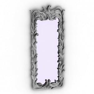 Floral Mirror Frame 3D Model