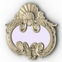 Vintage Decoration Mirror 3D Model