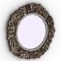Vintage kulaté zrcadlo
