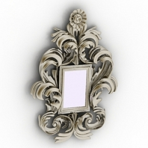 Floral Frame Mirror Decoration 3D Model