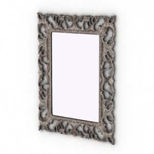 Curved Frame Decoration Mirror 3D Model