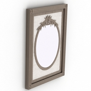 Vintage Ellipse Mirror 3D Model