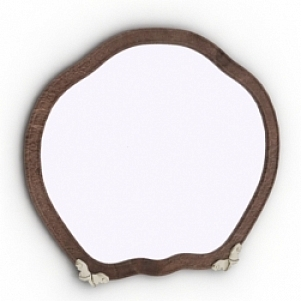 Curved Frame Mirror 3D Model