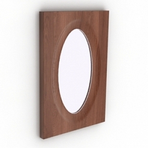 Ellipse Frame Mirror 3D Model