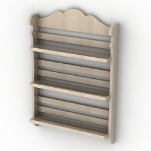 Wodden Shelves 3D Model