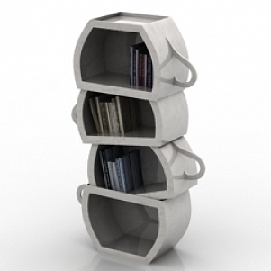 Rack Books 3D Model