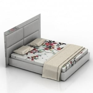 Bed Carre Elegant 3D Model
