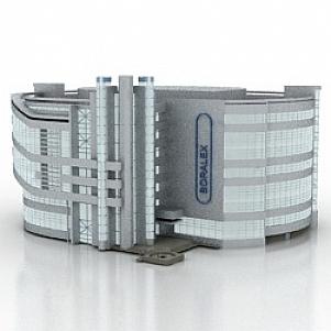 Office Building Boralex 3d Model Free Download Id5946 3ds