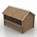 Wooden Pavilion 3D Model