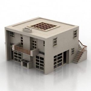 House 3d model free download id6212 3ds gsm max Home 3d model