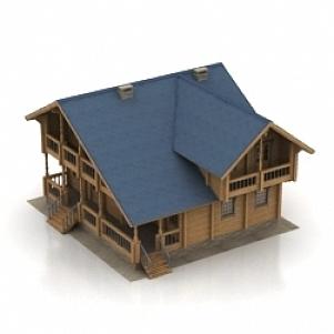House Wood 3D Model