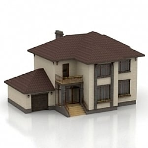 House 3d model free download id6310 3ds gsm open3dmodel 3d house building