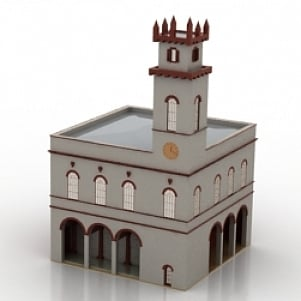 Town Hall Renaissance Styled 3D Model