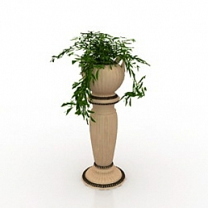 Vase With Plant 3D Model
